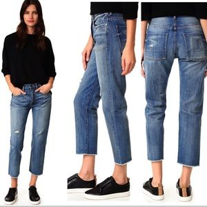 VINCE. Union Slouch Boyfriend Distressed Jeans